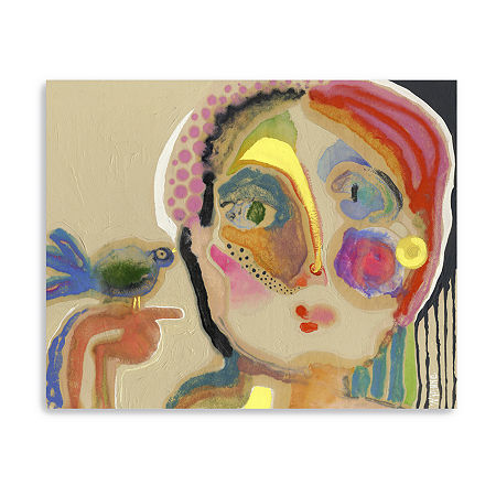 The Talker Giclee Canvas Art, One Size , Multiple Colors