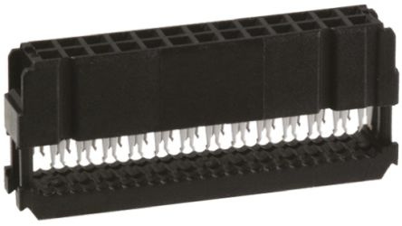 TE Connectivity 26-Way IDC Connector Socket for Cable Mount, 2-Row