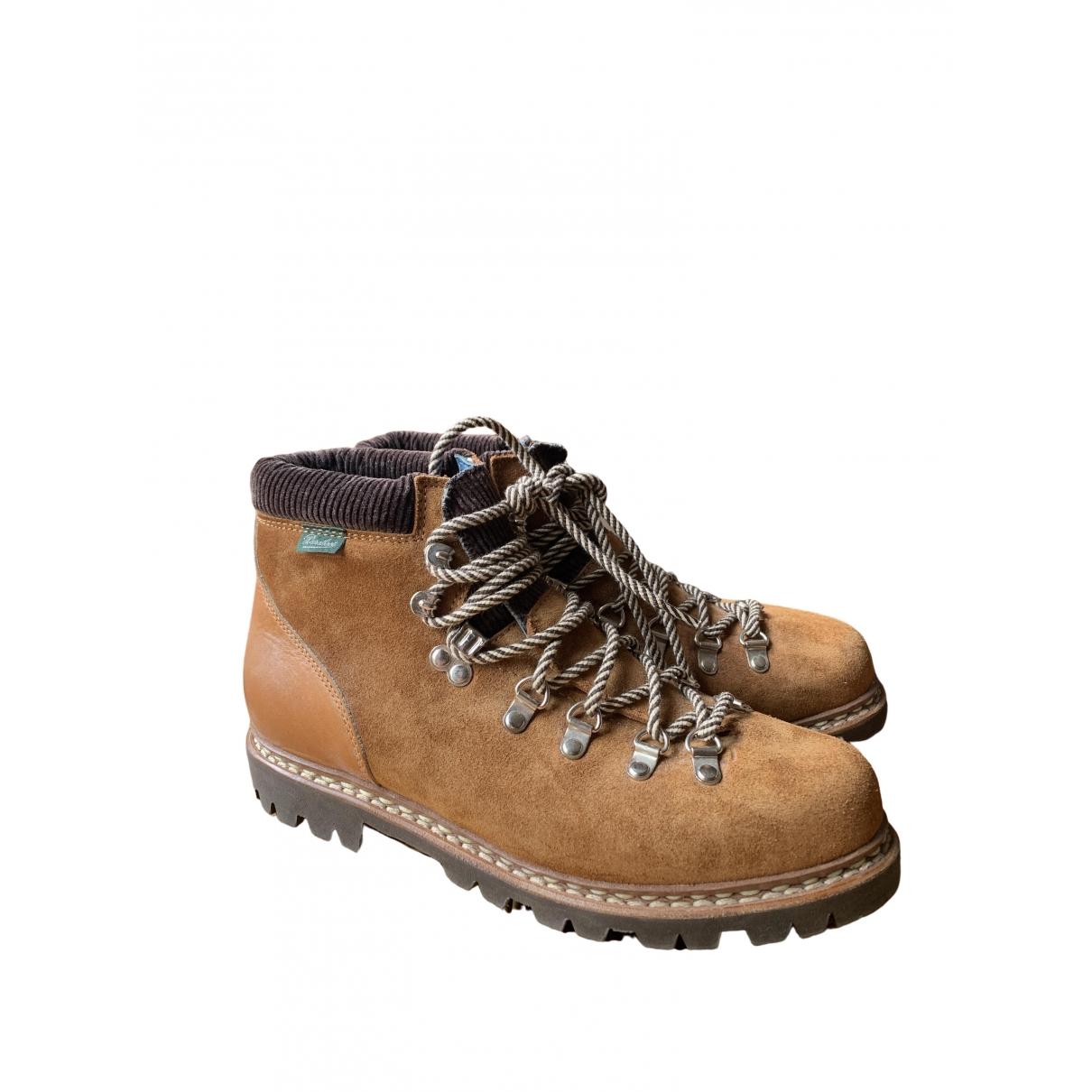 Bleu De Paname - Bottes.Boots   pour homme en cuir - marron