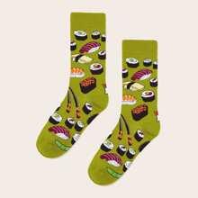 Sushi Pattern Socks 1pair