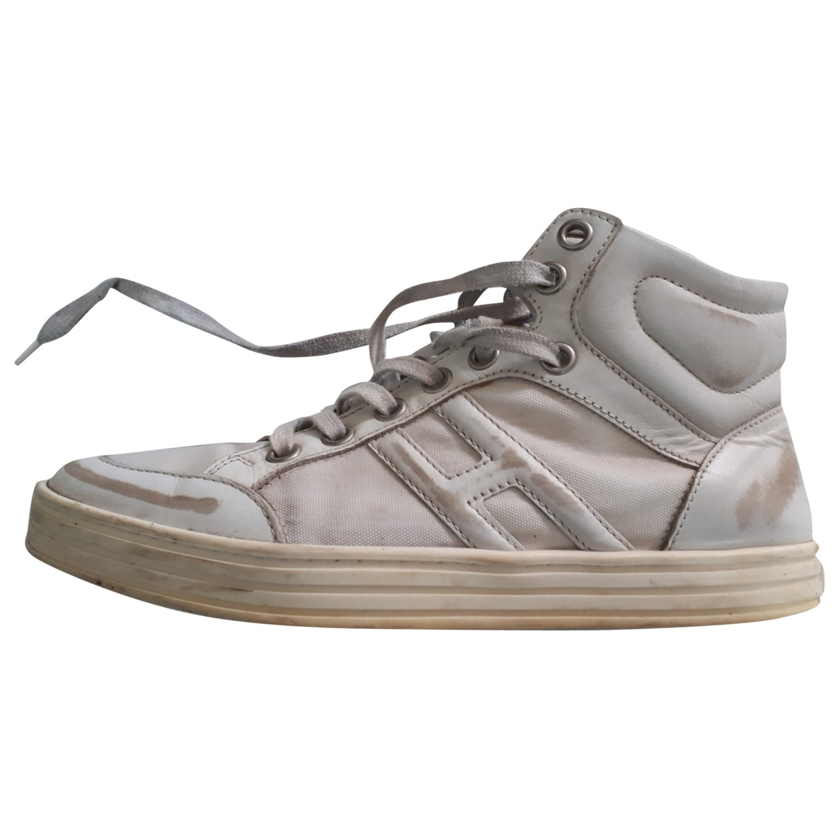 Hogan \N White Leather Trainers for Men 6.5 US