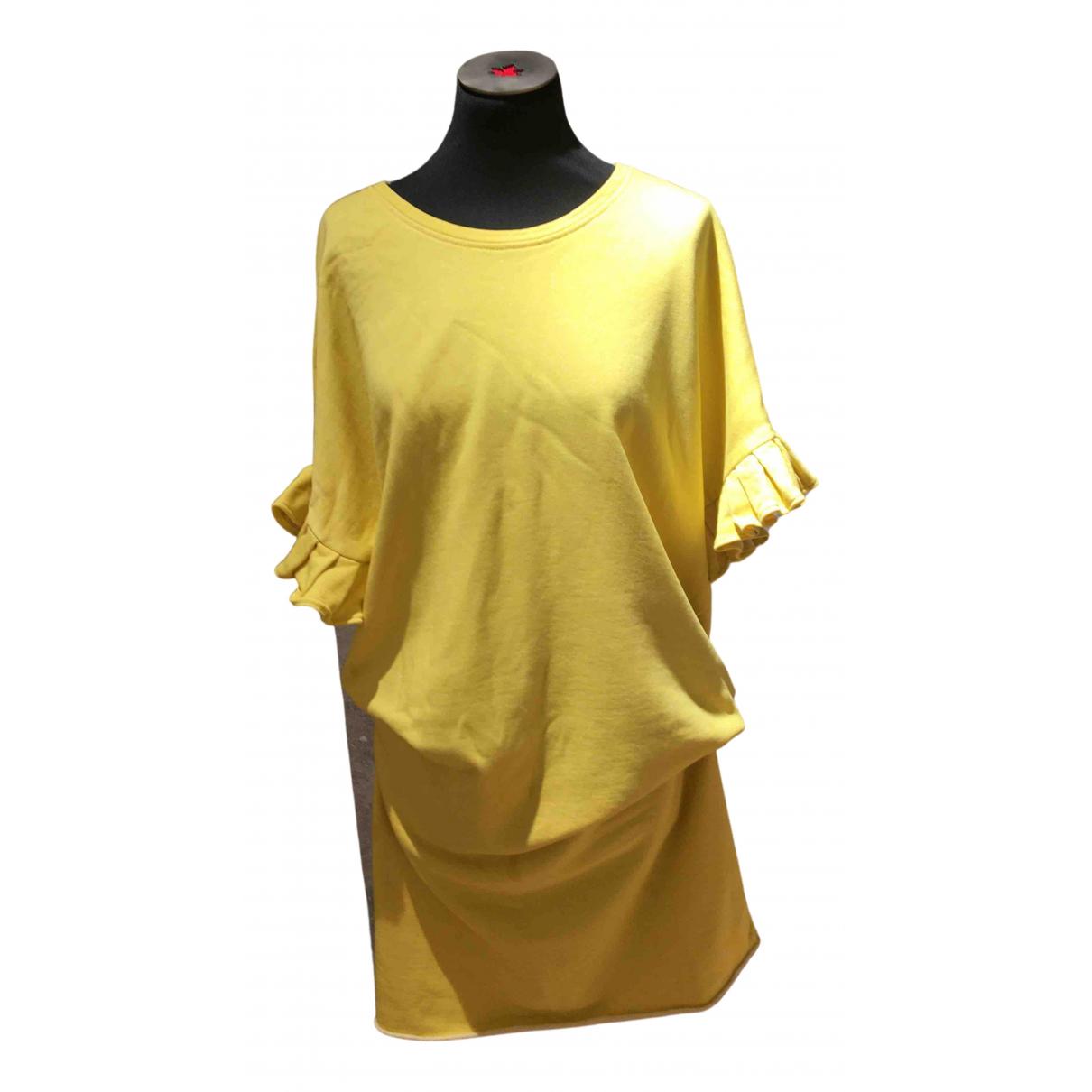 Douuod \N Kleid in  Gelb Baumwolle