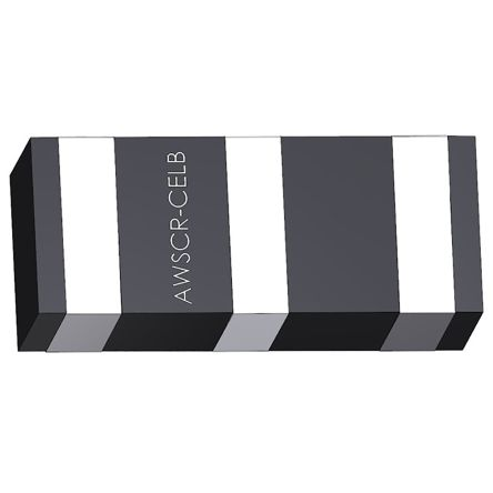 Abracon AWSCR-10.00CELB-C10-T3, Ceramic Resonator, 10MHz 10pF, 3-Pin SMD, 3.2 x 1.3 x 1mm (3000)