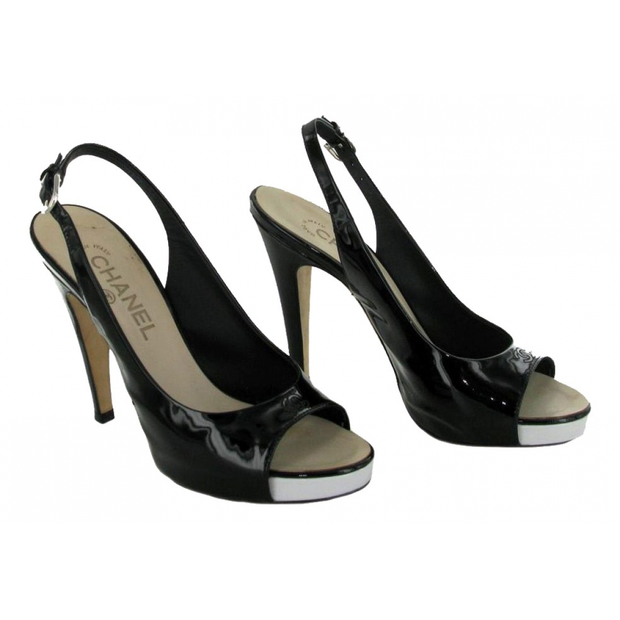 Chanel \N Black Patent leather Heels for Women 37 EU