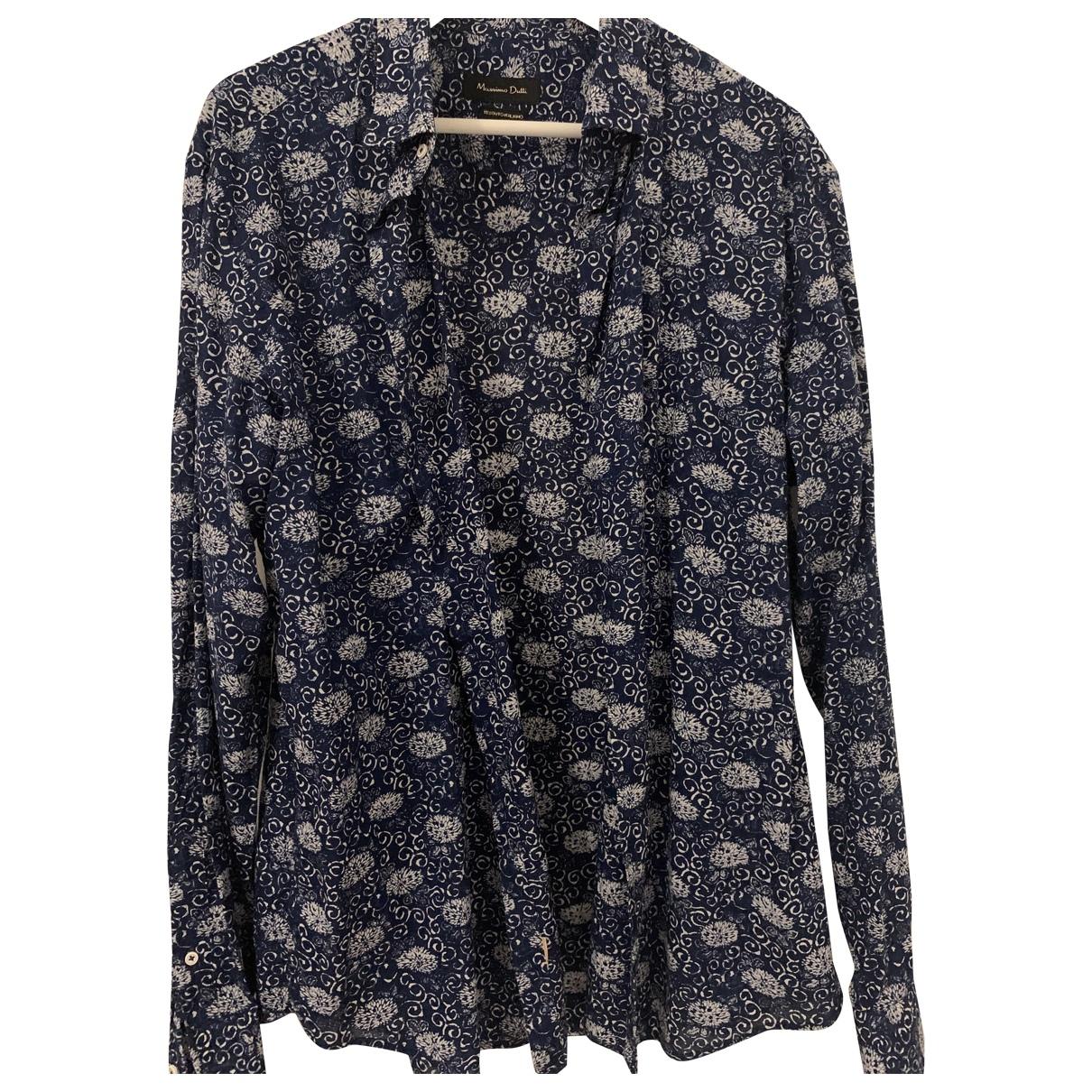 Massimo Dutti \N Blue Cotton Shirts for Men XXL International