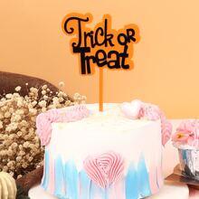 1 pieza decoracion de pastel con patron de halloween