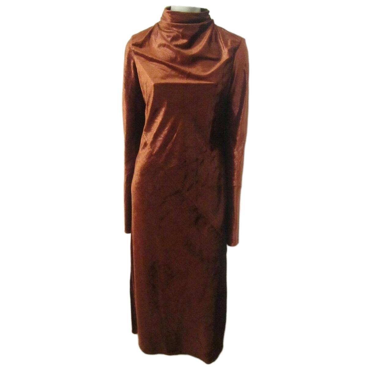 Ellery \N Kleid in  Braun Samt