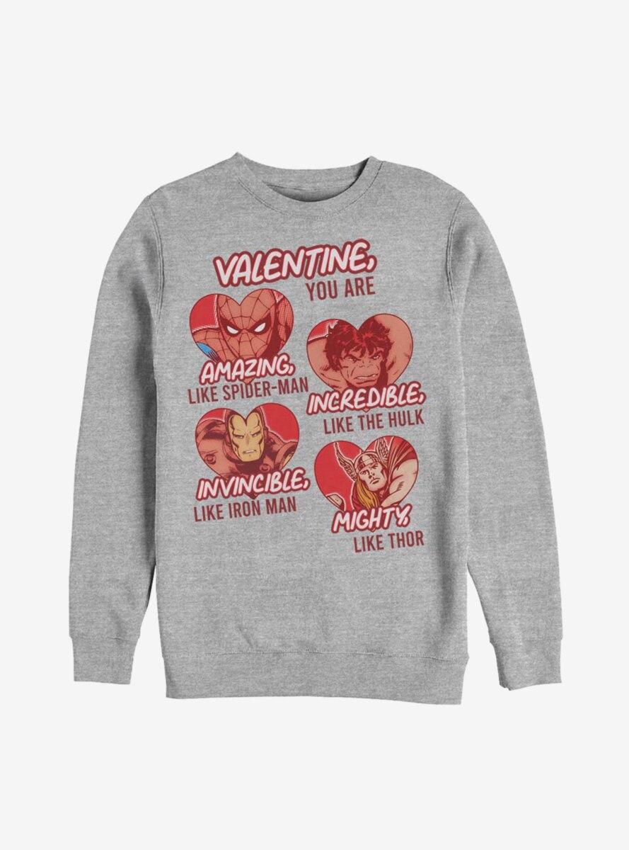 Marvel Avengers Valentine You Are Marvel Sweatshirt