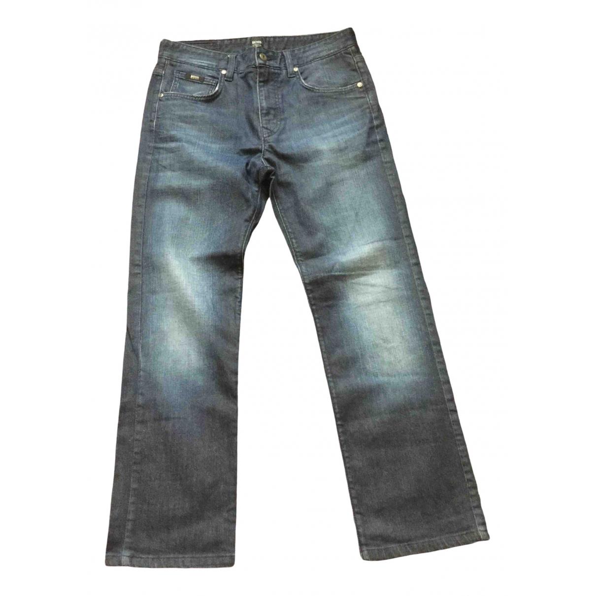 Boss N Navy Denim - Jeans Trousers for Men 34 UK - US