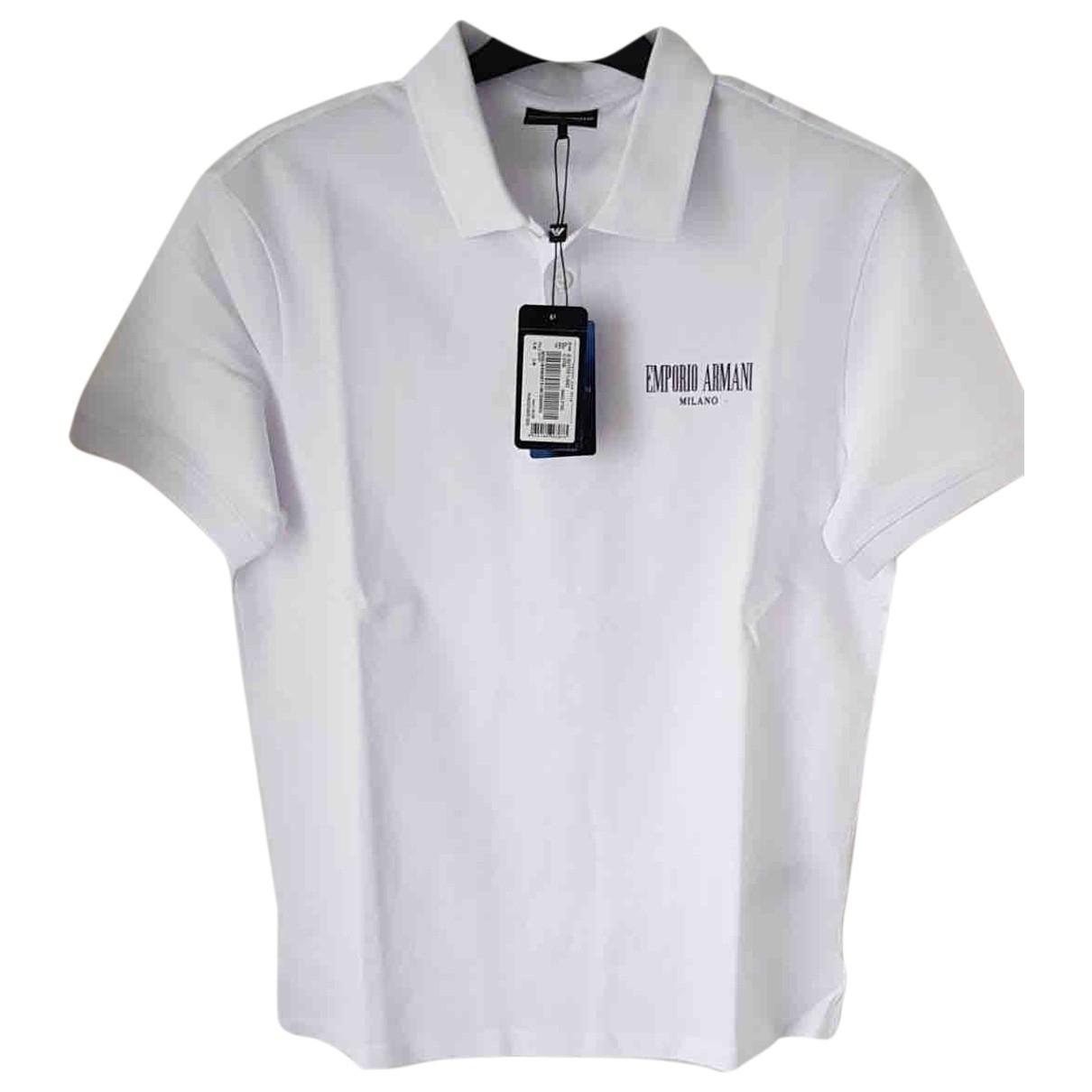 Emporio Armani \N Poloshirts in  Weiss Baumwolle
