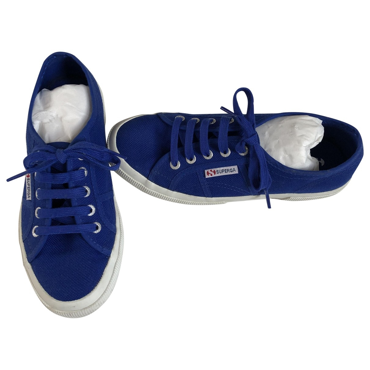 Superga \N Blue Cloth Trainers for Women 37 IT
