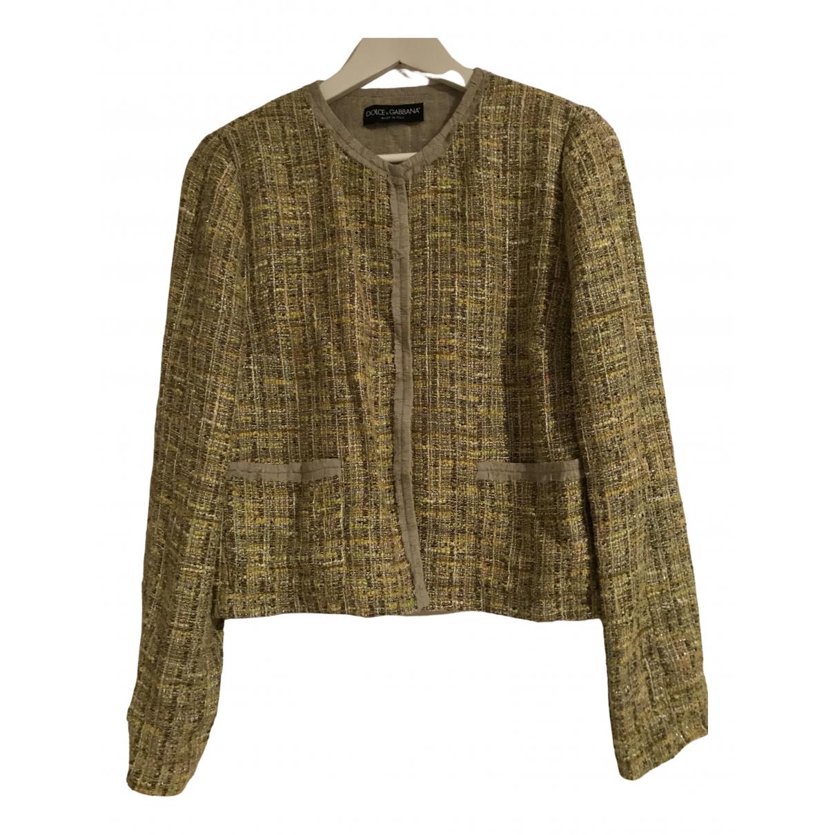 Dolce & Gabbana - Veste   pour femme en coton - jaune