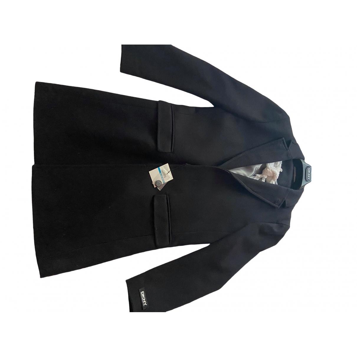 Dkny - Manteau   pour homme en laine - bleu