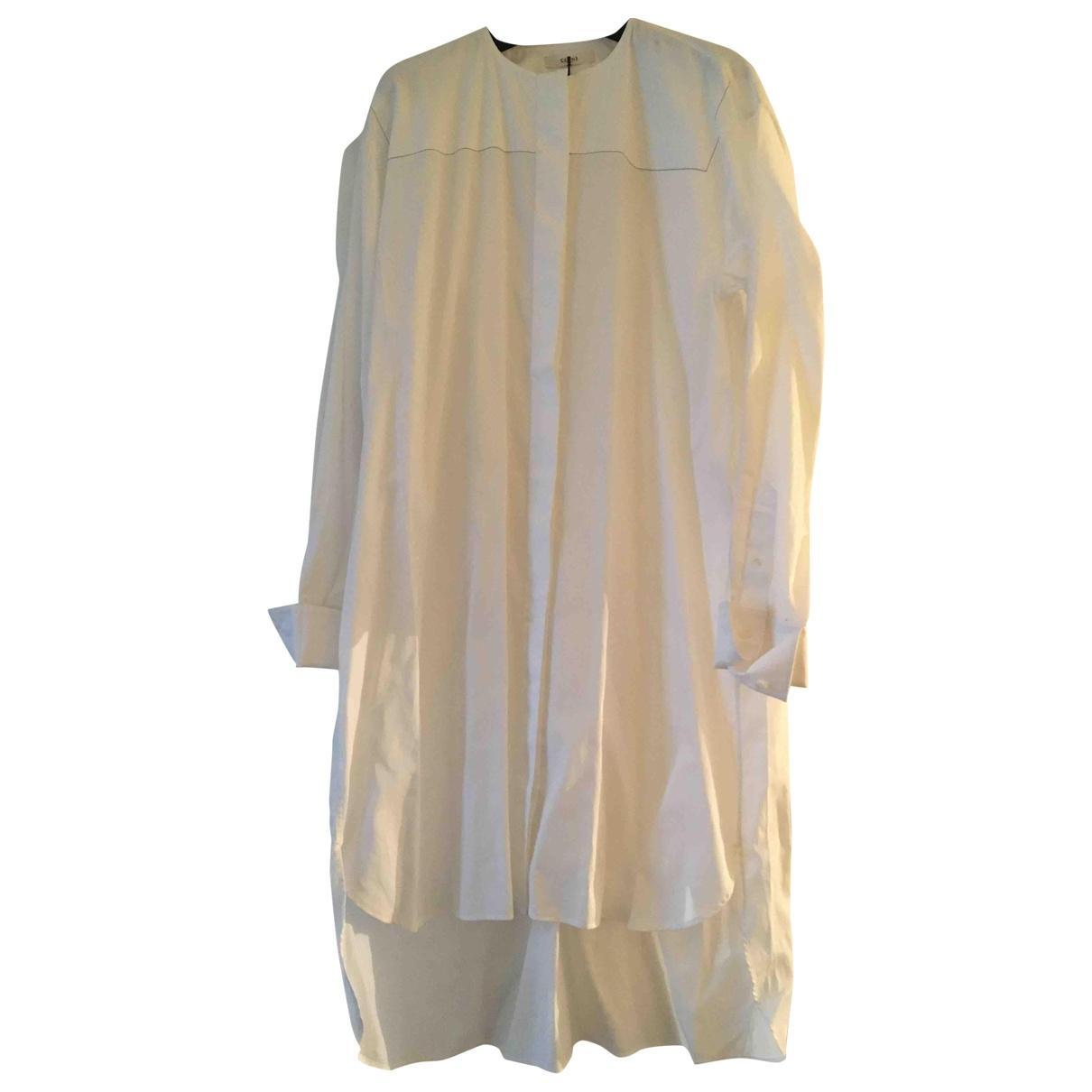 Celine \N White Cotton dress for Women 36 FR