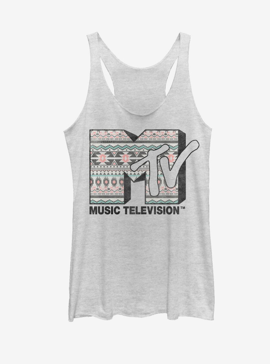 MTV Tribal Print Logo Womens Tank