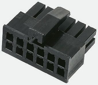 TE Connectivity , Micro MATE-N-LOK Female Connector Housing, 3mm Pitch, 20 Way, 2 Row (10)