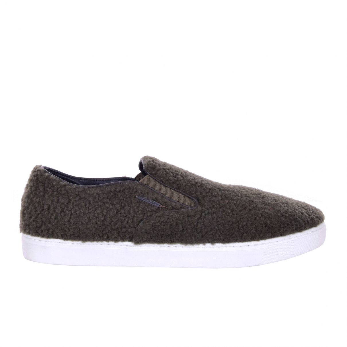Dolce & Gabbana \N Sneakers in  Khaki Leinen