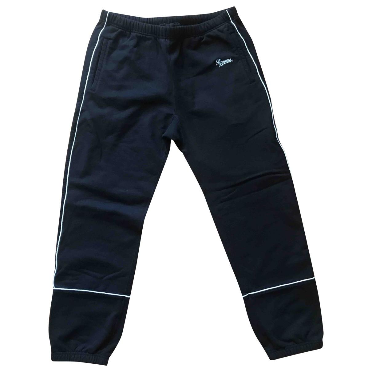 Supreme \N Black Cotton Trousers for Men M International