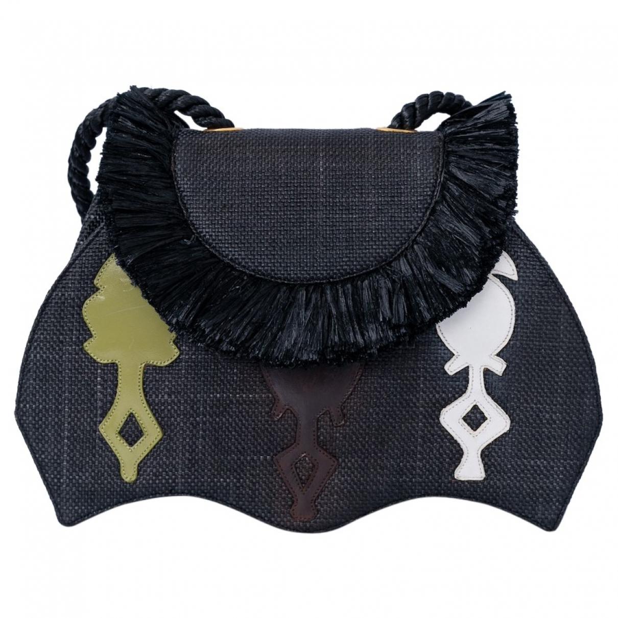 Non Signe / Unsigned Hippie Chic Handtasche in Stroh