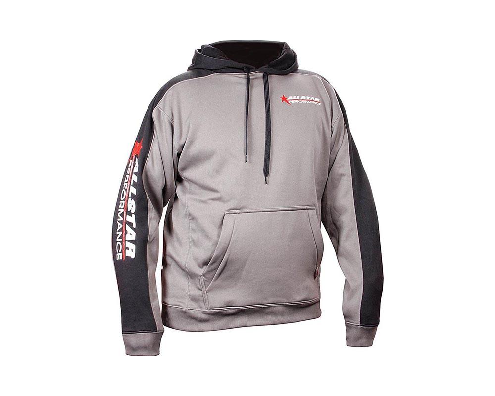 Allstar Performance ALL99916XL Hooded Sweatshirt XL Silver/Blk ALL99916XL