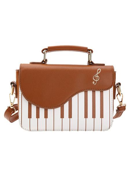 Milanoo Sweet Lolita Bag Black Shoulder Bag PU Leather Lolita Accessories