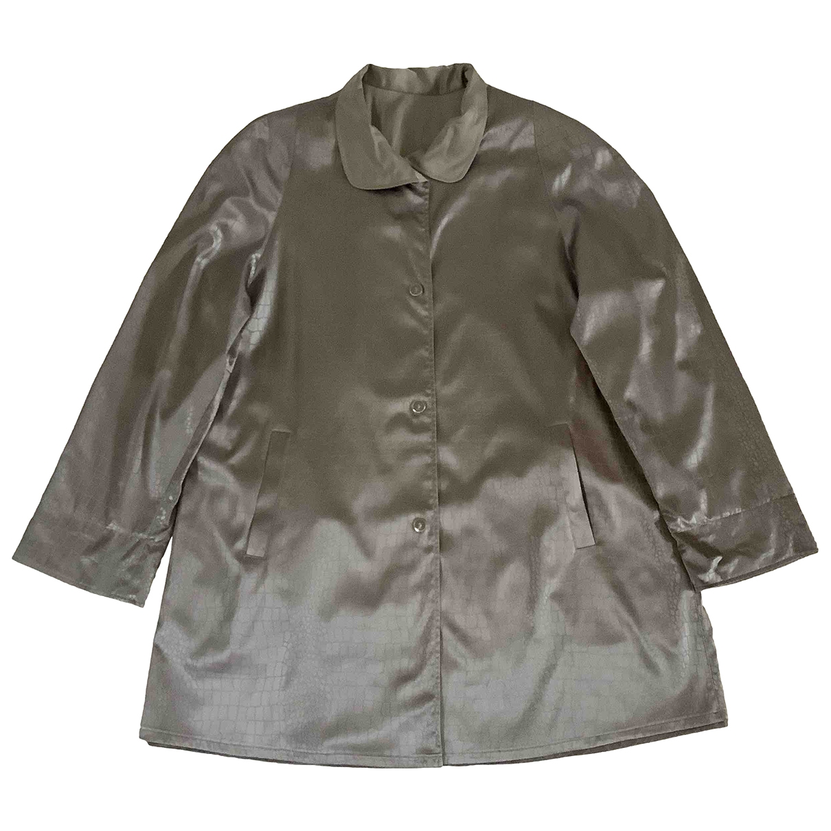 Non Signe / Unsigned \N Trench in  Grau Polyester