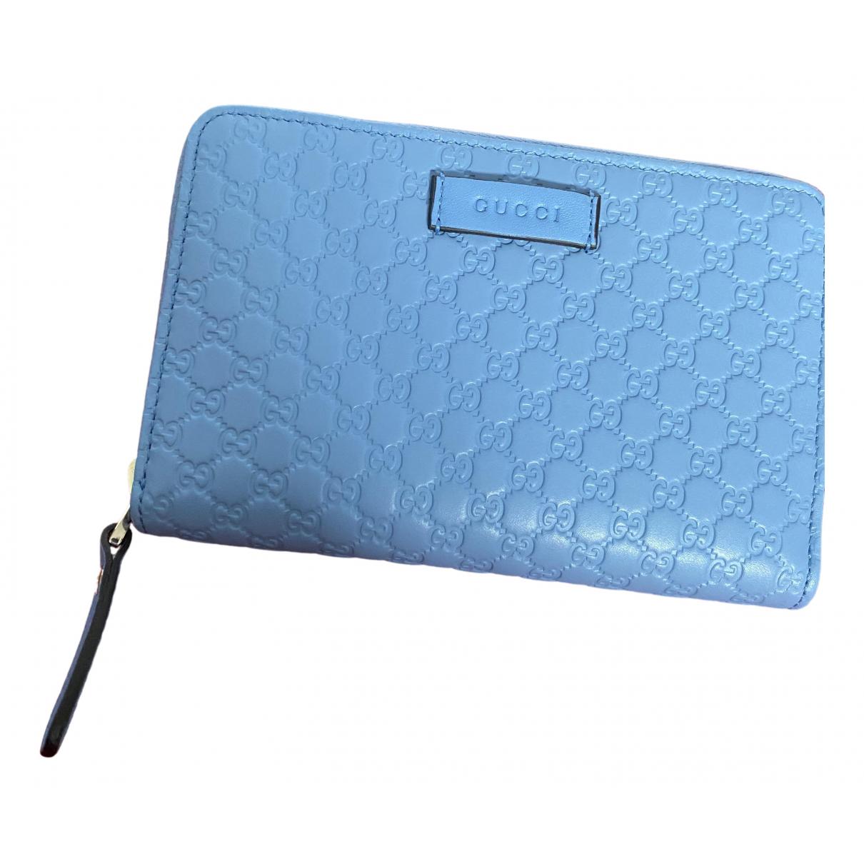 Gucci Continental Portemonnaie in  Blau Leder