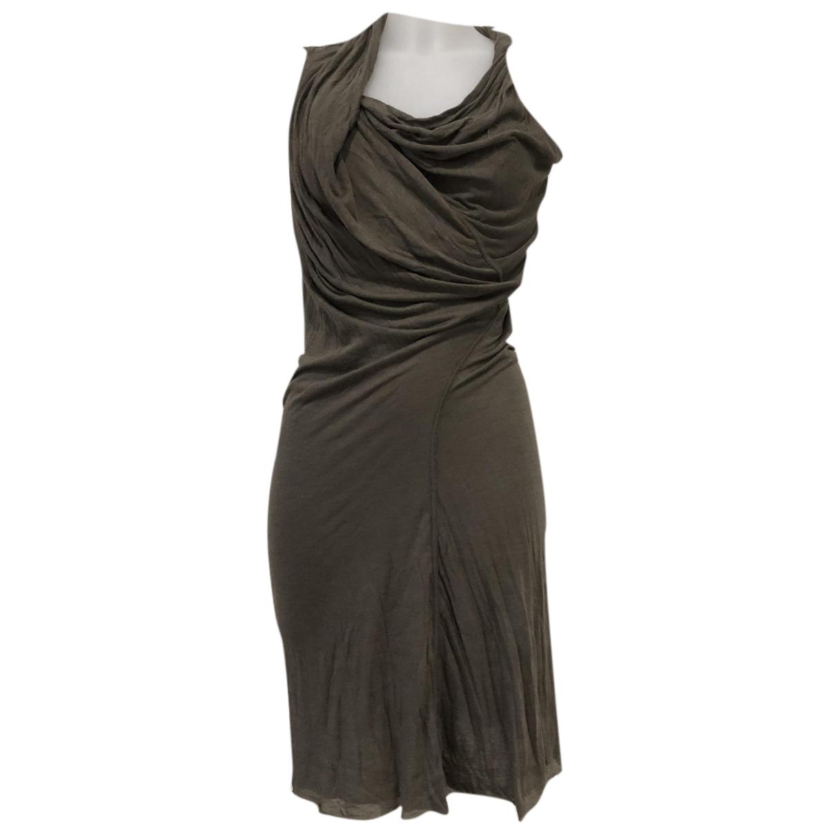 Rick Owens Lilies \N Kleid in  Khaki Viskose