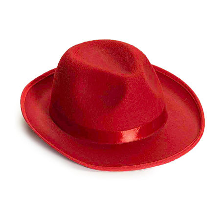 Deluxe Red Fedora Dress Up Accessory, One Size , Red