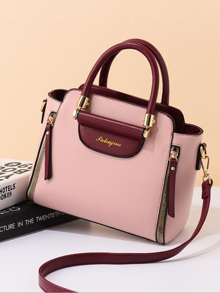 Yoins Sheer Zip Design Handbag