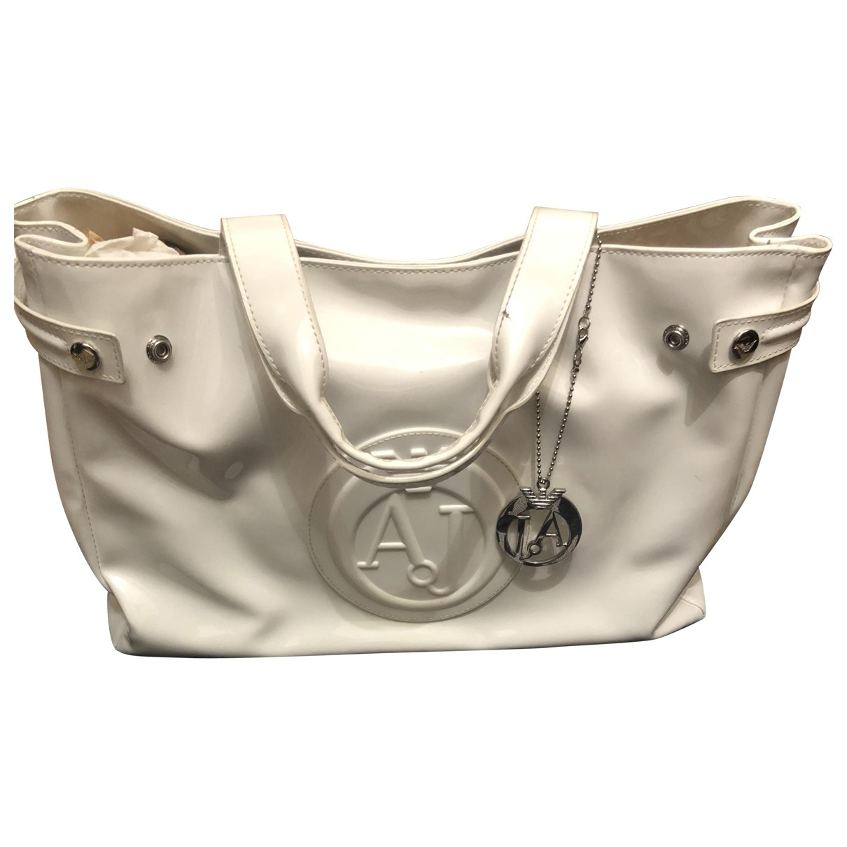 Armani Jeans \N White Patent leather handbag for Women \N