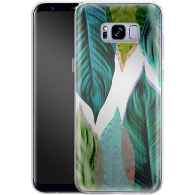 Samsung Galaxy S8 Plus Silikon Handyhuelle - Green Leaves von Mareike Bohmer