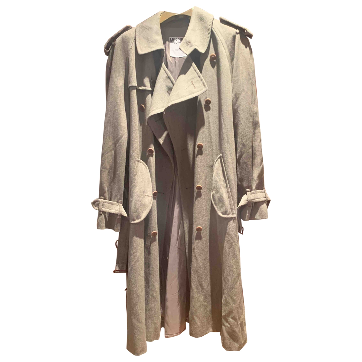 Moschino - Trench   pour femme en laine - beige