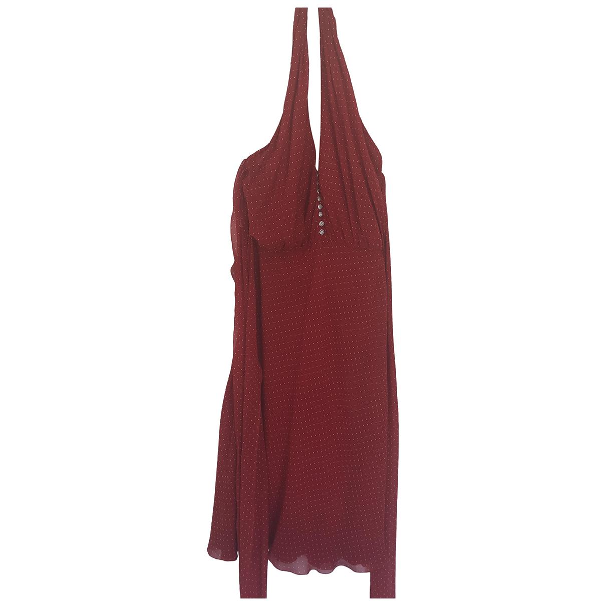 Azzaro - Robe   pour femme en soie - rouge