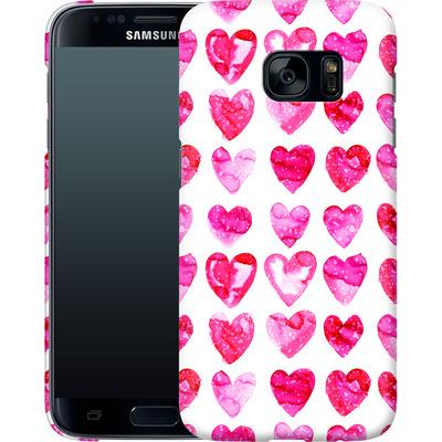 Samsung Galaxy S7 Smartphone Huelle - Heart Speckle von Amy Sia