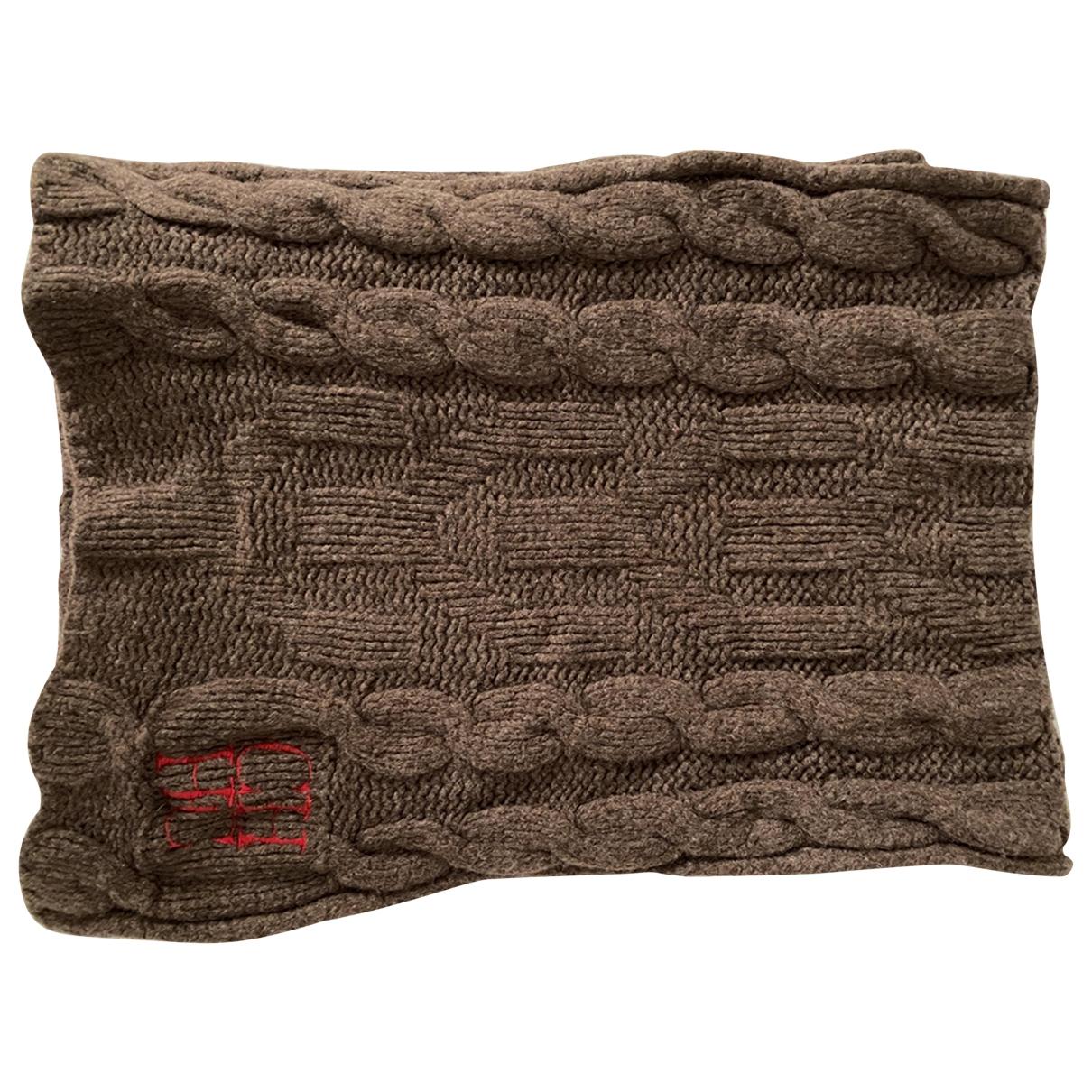 Carolina Herrera \N Brown Wool scarf & pocket squares for Men \N