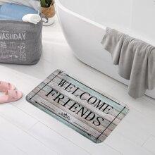 Slogan Graphic Floor Mat