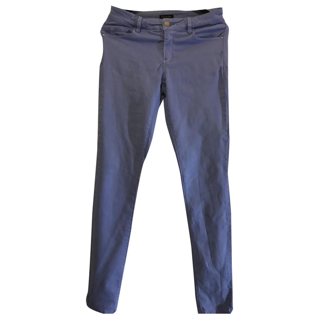 Massimo Dutti \N Blue Denim - Jeans Jeans for Women 36 FR