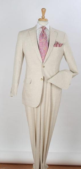 Men's 2 Piece Single Breasted Side Vents Two Buttons Regular Suit