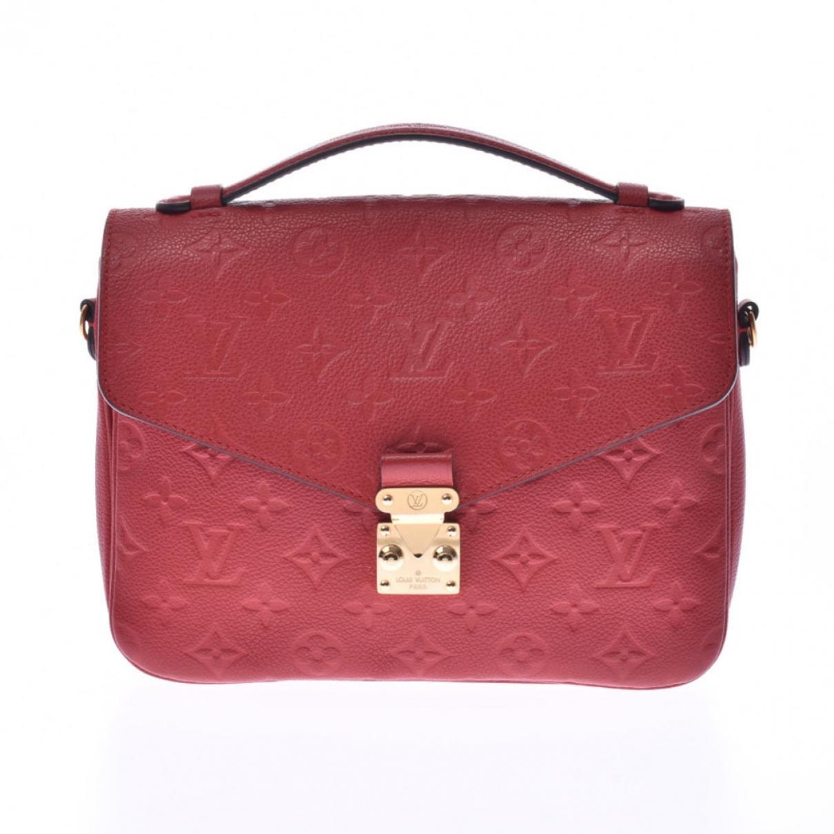 Louis Vuitton Metis Handtasche in  Rot Leder