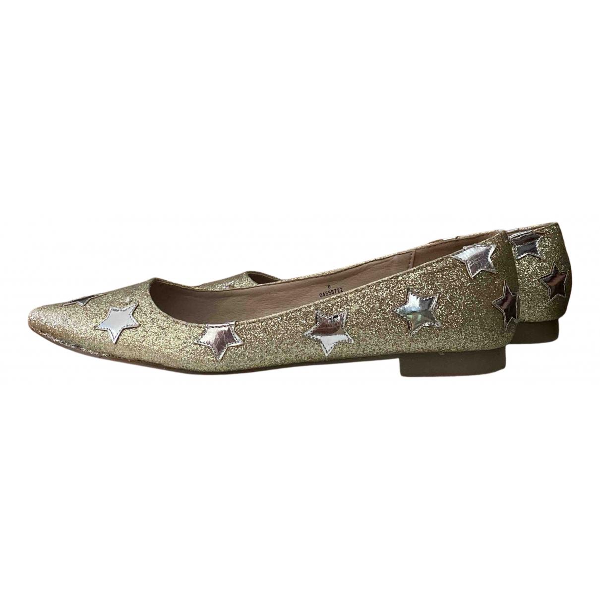 Asos \N Ballerinas in  Gold Polyester