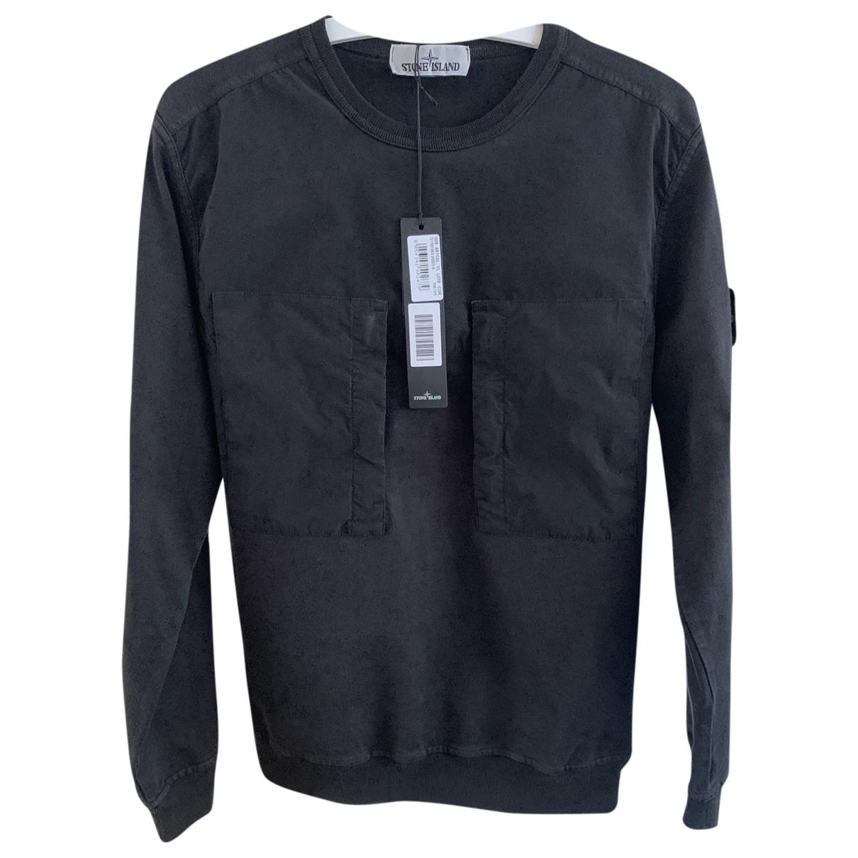 Stone Island \N Pullover.Westen.Sweatshirts  in  Schwarz Baumwolle