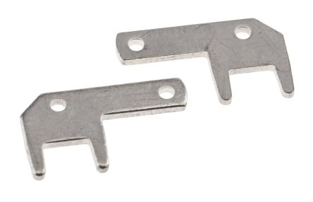 TE Connectivity , FASTON .110 Uninsulated Spade Connector, 2.8 x 0.8mm Tab Size (100)