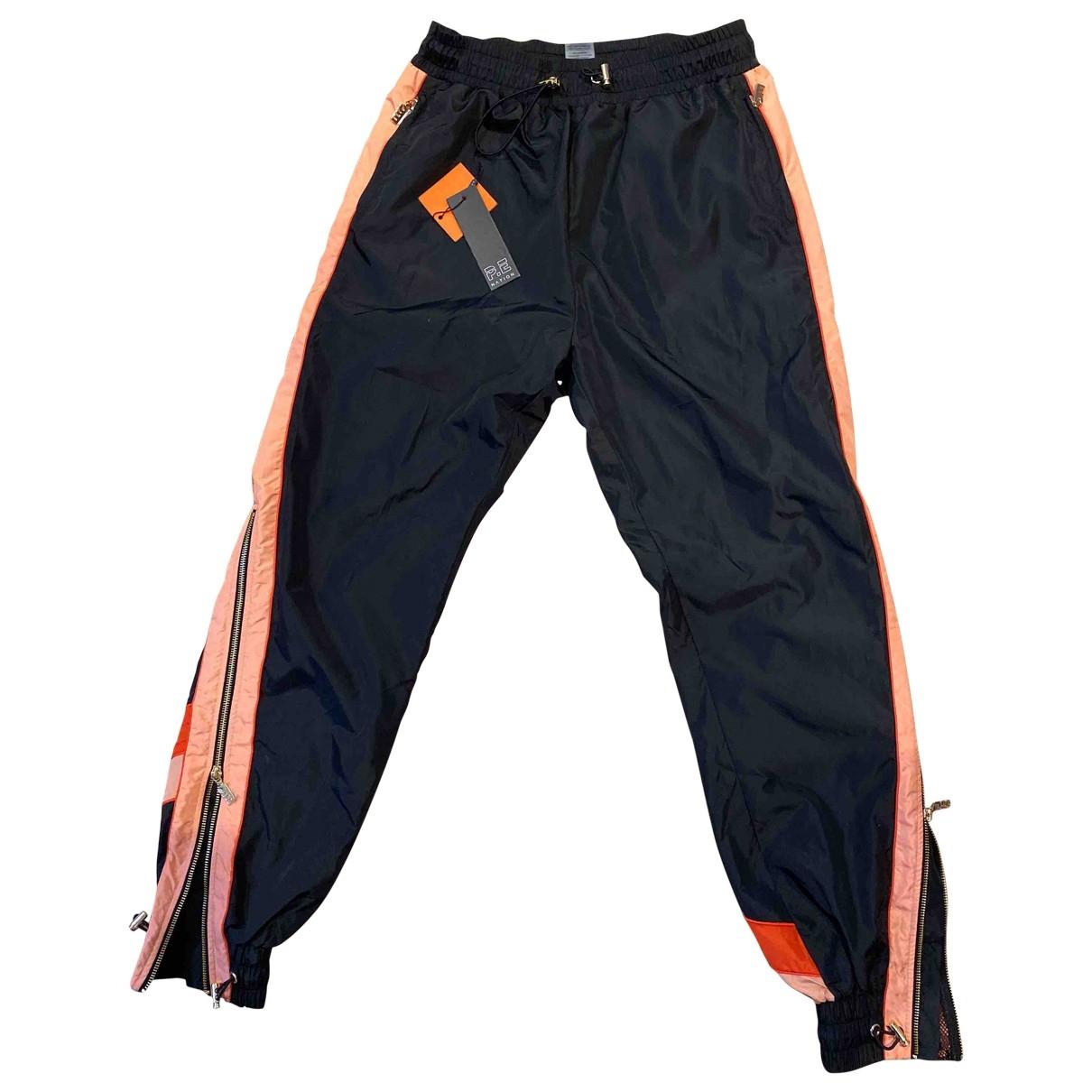 Pantalon en Poliester Negro P.e Nation