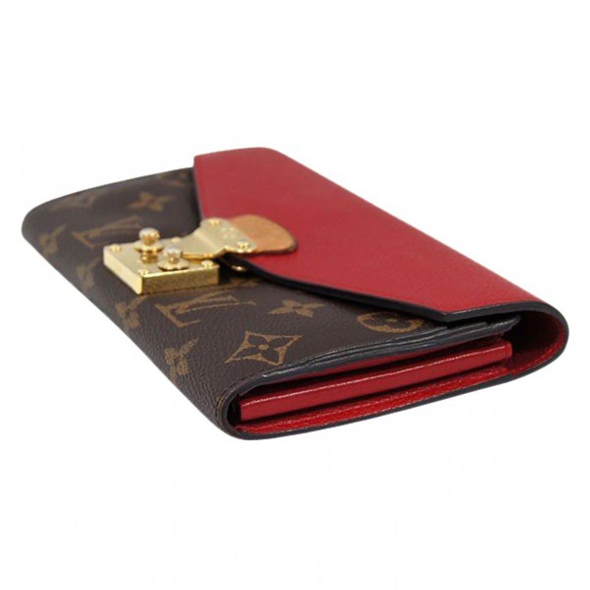 Louis Vuitton - Portefeuille Pallas pour femme en toile - marron