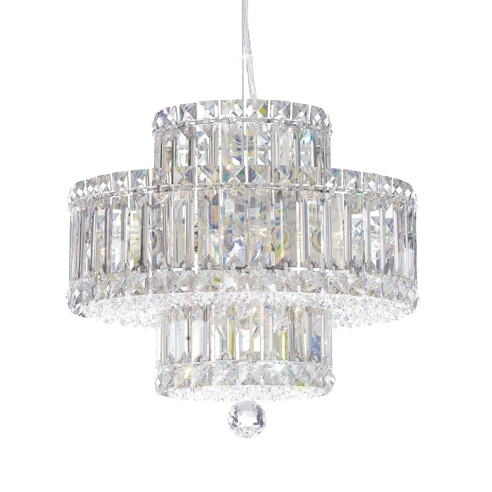 Plaza 9 Light Pendant Staless Steel Clear Spectra Crystal - One Size (One Size - Clear)