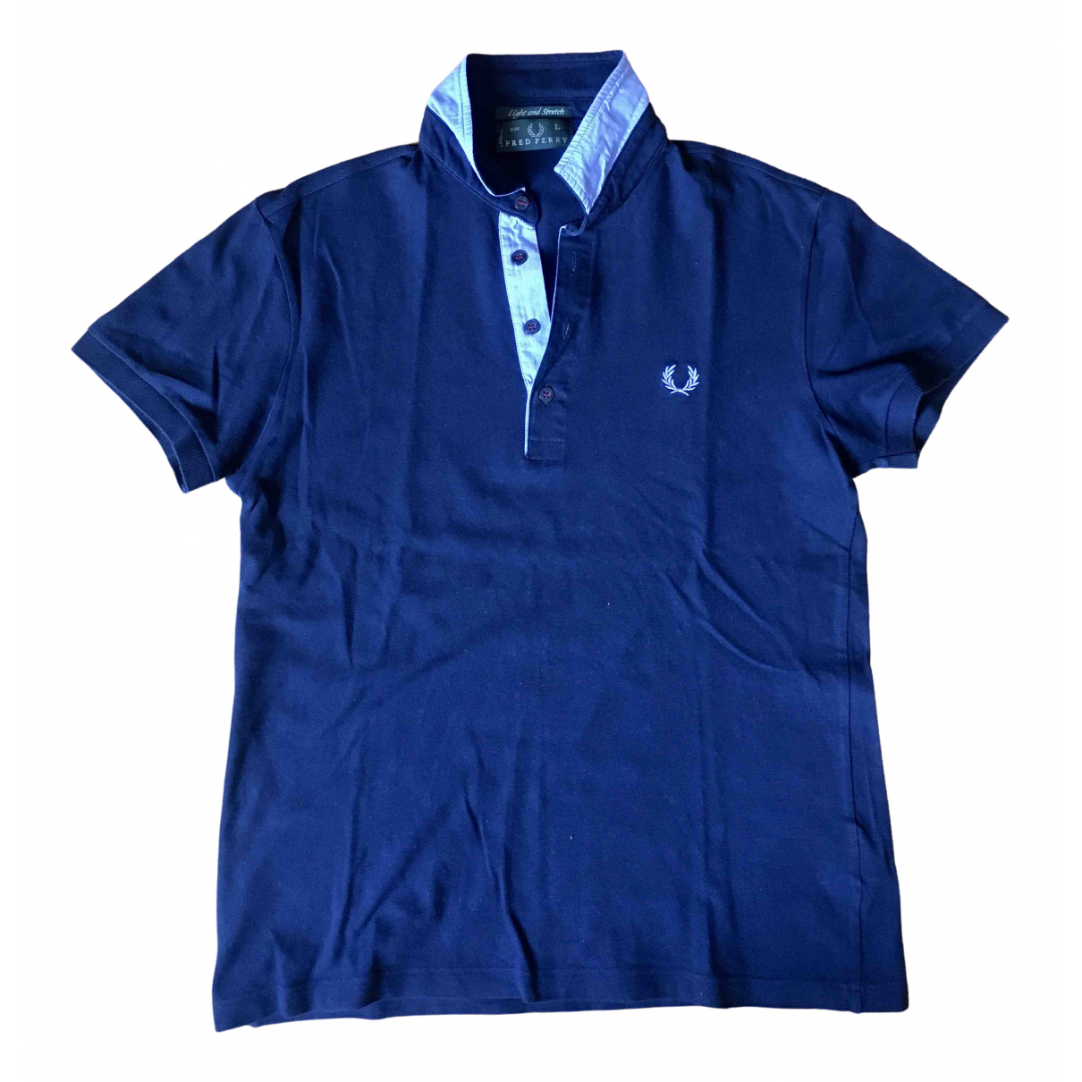 Polo en Algodon Azul Fred Perry