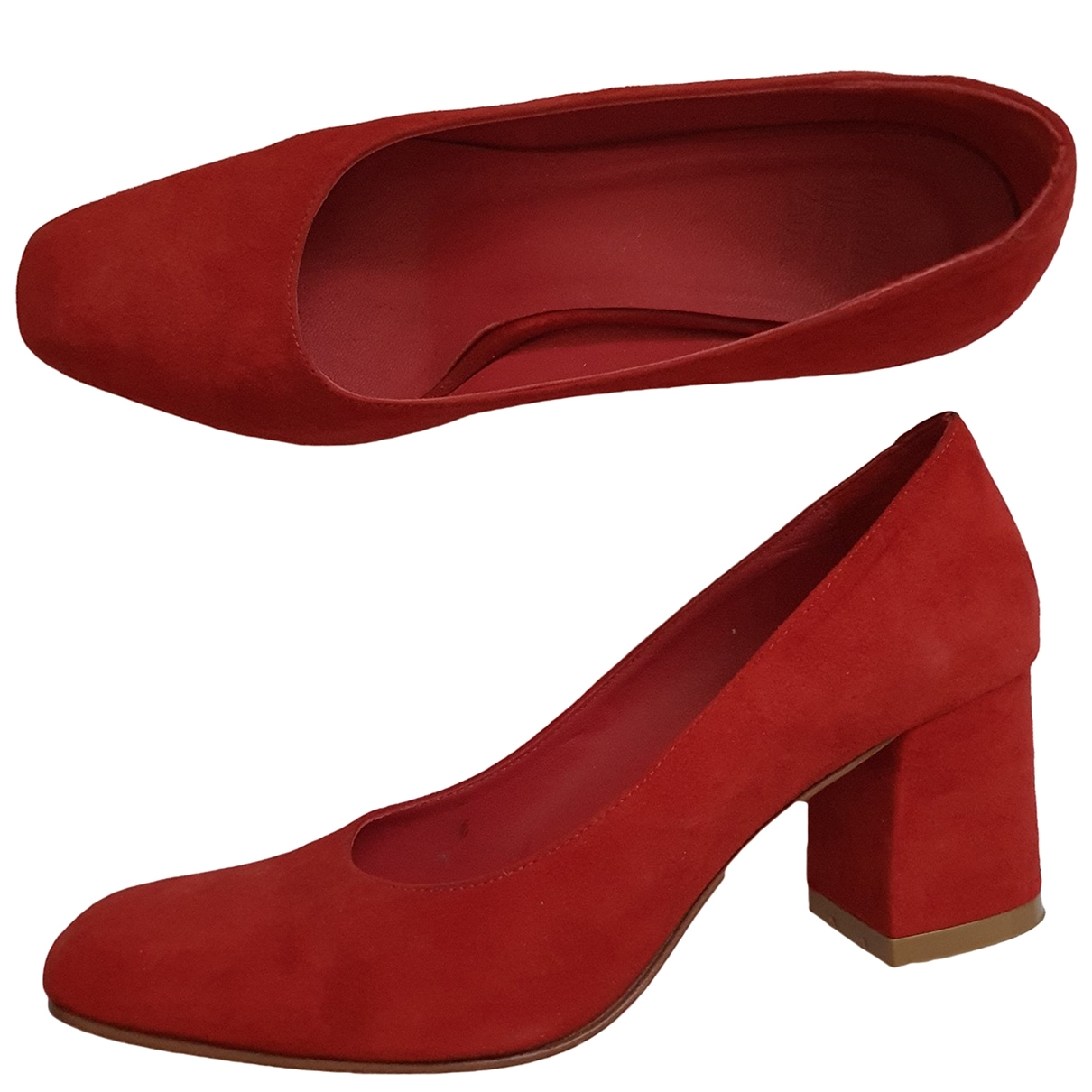 Maryam Nassir Zadeh - Escarpins   pour femme en suede - rouge