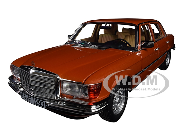 1976 Mercedes Benz 450 SEL 6.9 Metallic Orange 1/18 Diecast Model Car by Norev