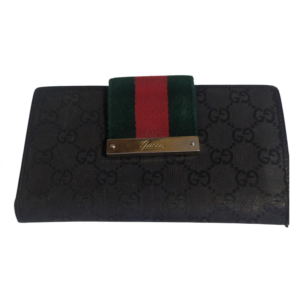 Gucci Ophidia Portemonnaie in  Schwarz Leder